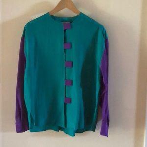 Authentic 80s Silk shirt & pants Adam Douglas